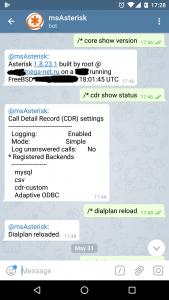 Asterisk и Telegram